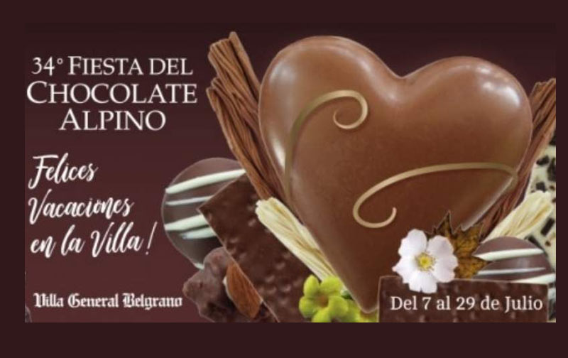 Julio: Fiesta del Chocolate Alpino en Villa General Belgrano